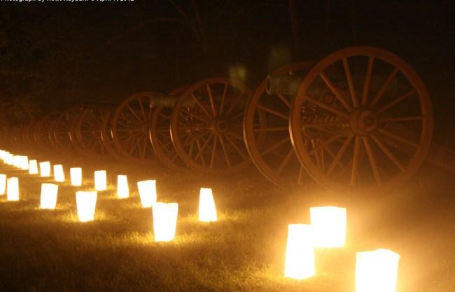 Luminaries at Ruggle's Battery, April 7, 2012 Photograph by Newt Rayburn