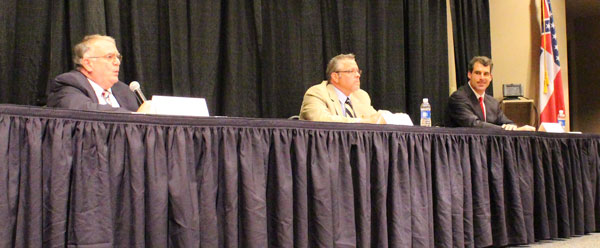 """Oxford Mayor Candidates: George """"Pat"""" Patterson, Jason Plunk, and Todd Wade. Photograph by Newt Rayburn."""