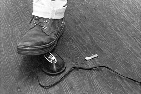 Dave's Footswitch. 1994. Photograph by Newt Rayburn.