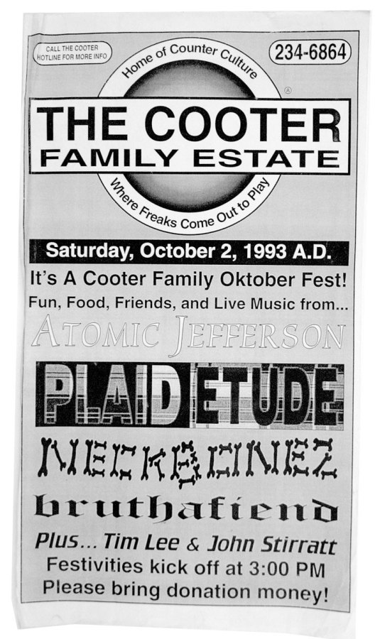 The Cooter Family Estate Flyer