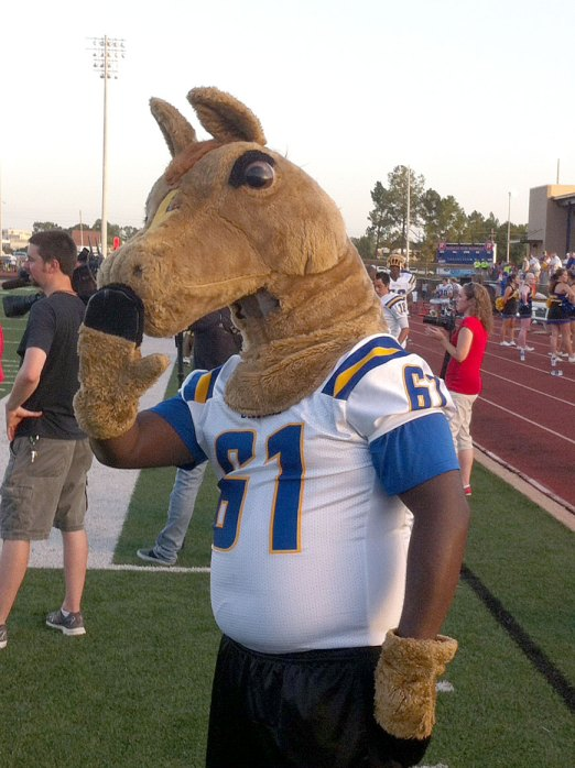 Oxford Chargers mascot. Photograph by Carver Rayburn.
