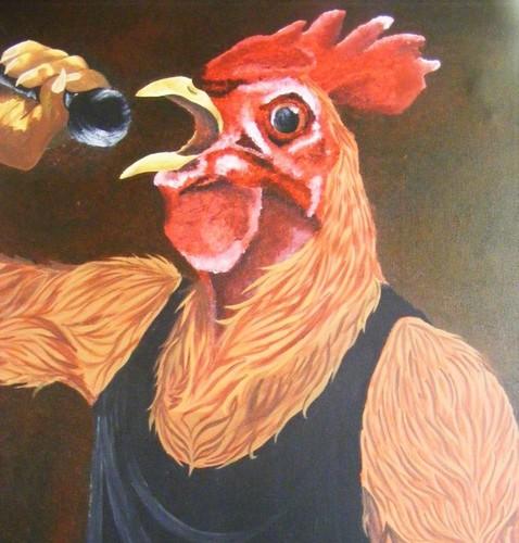 Rooster Singing Sing Karaoke