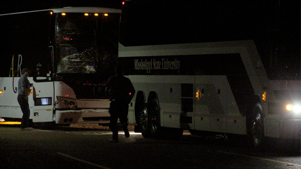 Mississippi State Bus Crash in Oxford, Ole Miss