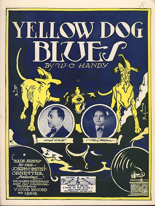 yellow dog blues sheet music
