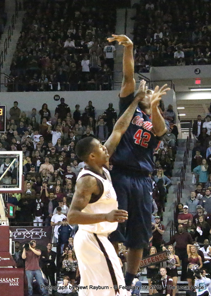 Ole Miss Guard Stefan Moody was knocking them down left and right Thursday night in Starkville, even when he a hand in the face from Mississippi State Guard Craig Sword. Moody had a career-high 29 points and knocked down a career-high eight 3-pointers against the Bulldogs.