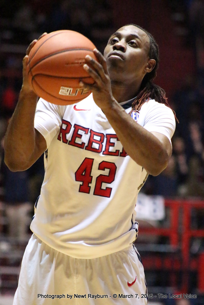 Ole Miss Guard Stefan Moody. Photograph by Newt Rayburn - © 2015 The Local Voice.