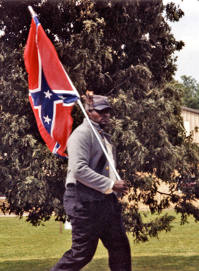 Anthony Hervey marching in Oxford, Mississippi in May of 2000. Photograph by Alison Moore.