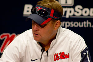 Ole Miss Coach Hugh Freeze. Photograph by Shelby Rayburn.