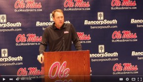 Hugh Freeze on October 19, 2015. Photograph by Newt Rayburn - © 2015 The Local Voice
