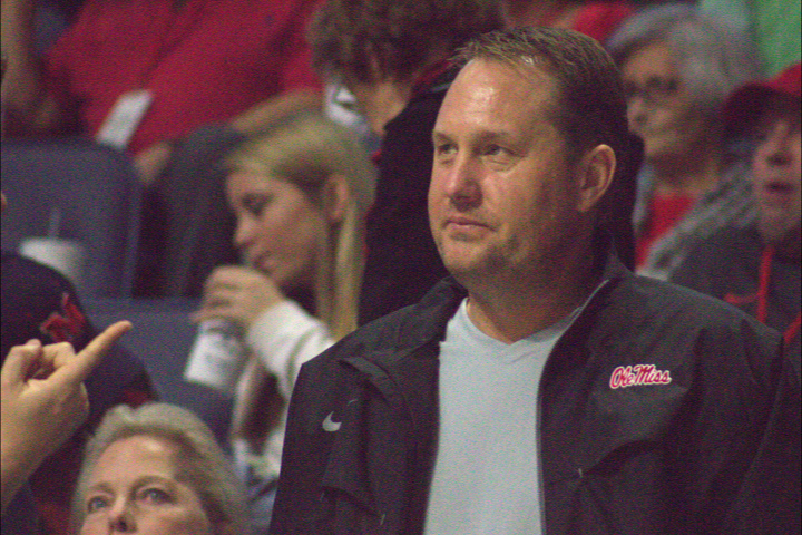 Ole Miss Football Head Coach Hugh Freeze at the grand opening of the Pavilion At Ole Miss. Photograph by Newt Rayburn - © January 7, 2016 - The Local Voice.