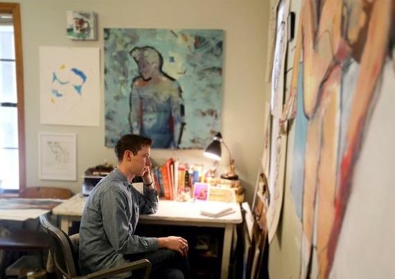 staring at wall jonathan kent adams local artist low down