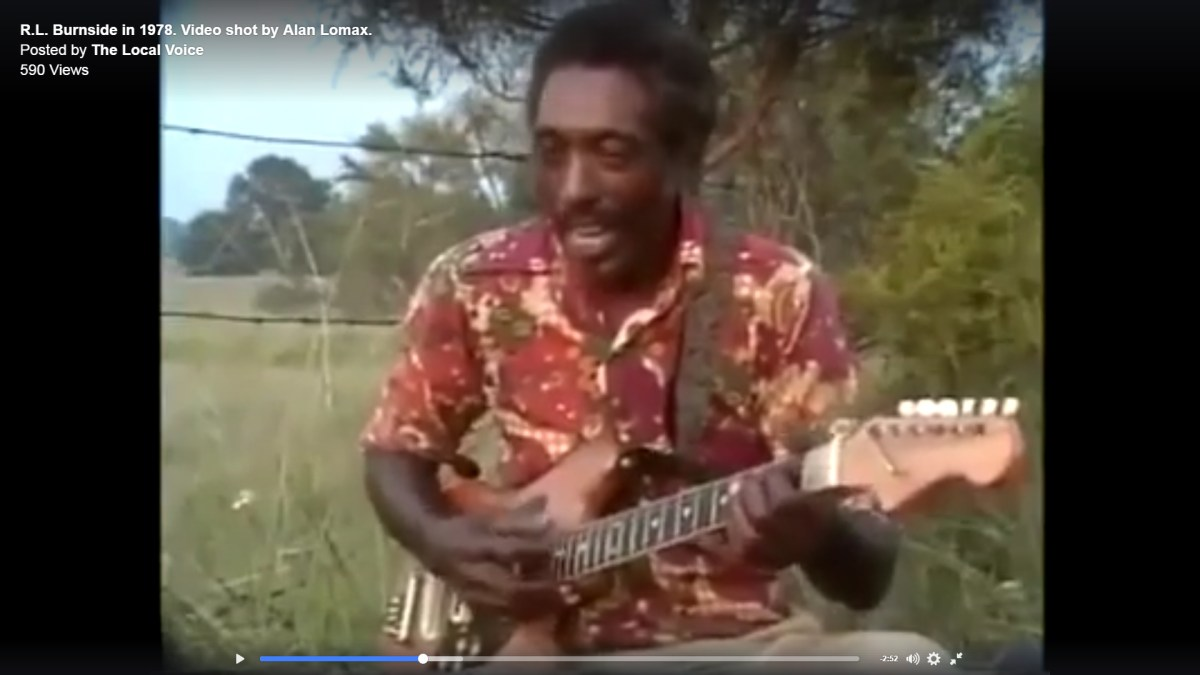Video shot by Alan Lomax of R.L. Burnside playing Hill Country Blues in 1978 in North Mississippi