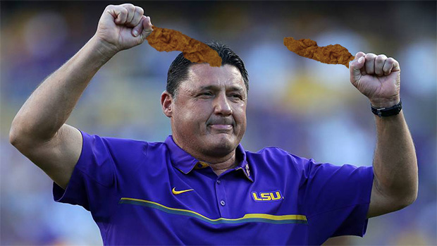 Coach Orgeron misses Chicken on a Stick
