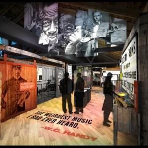 Artist rendering of Delta Blues Museum's planned exhibit gallery.