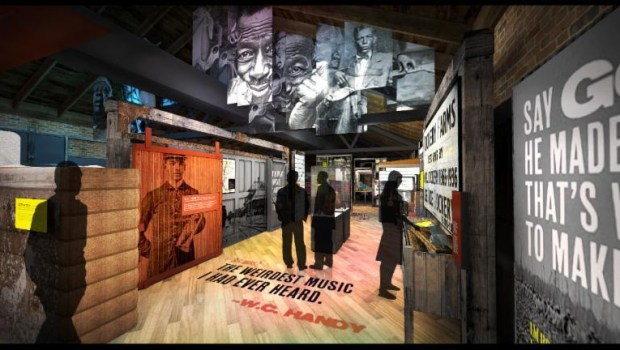 Artist rendering of Delta Blues Museum's planned exhibit gallery.