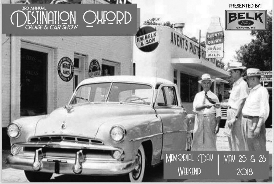Destination Oxford Car Show and Parade is Saturday, May 26