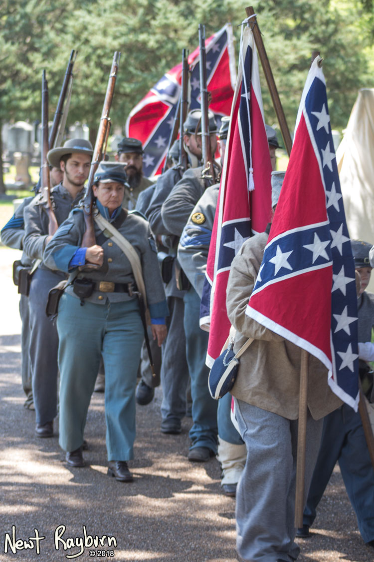 Confederate soldier reenactors. Photograph by Newt Rayburn - © May 6, 2018.