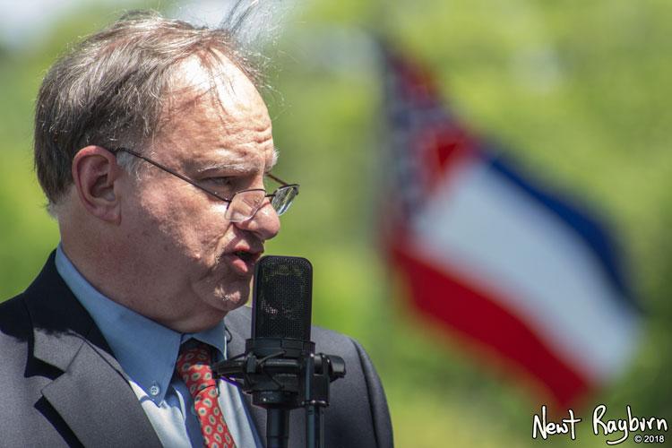 Civil War historian Starke Miller. Photograph by Newt Rayburn - © May 6, 2018.