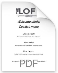 The Loft Welcome Drinks.