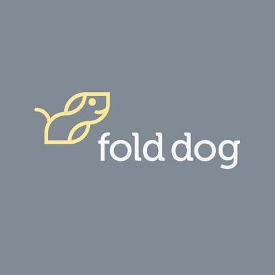 Fold Dog Logo Design Gallery Inspiration LogoMix