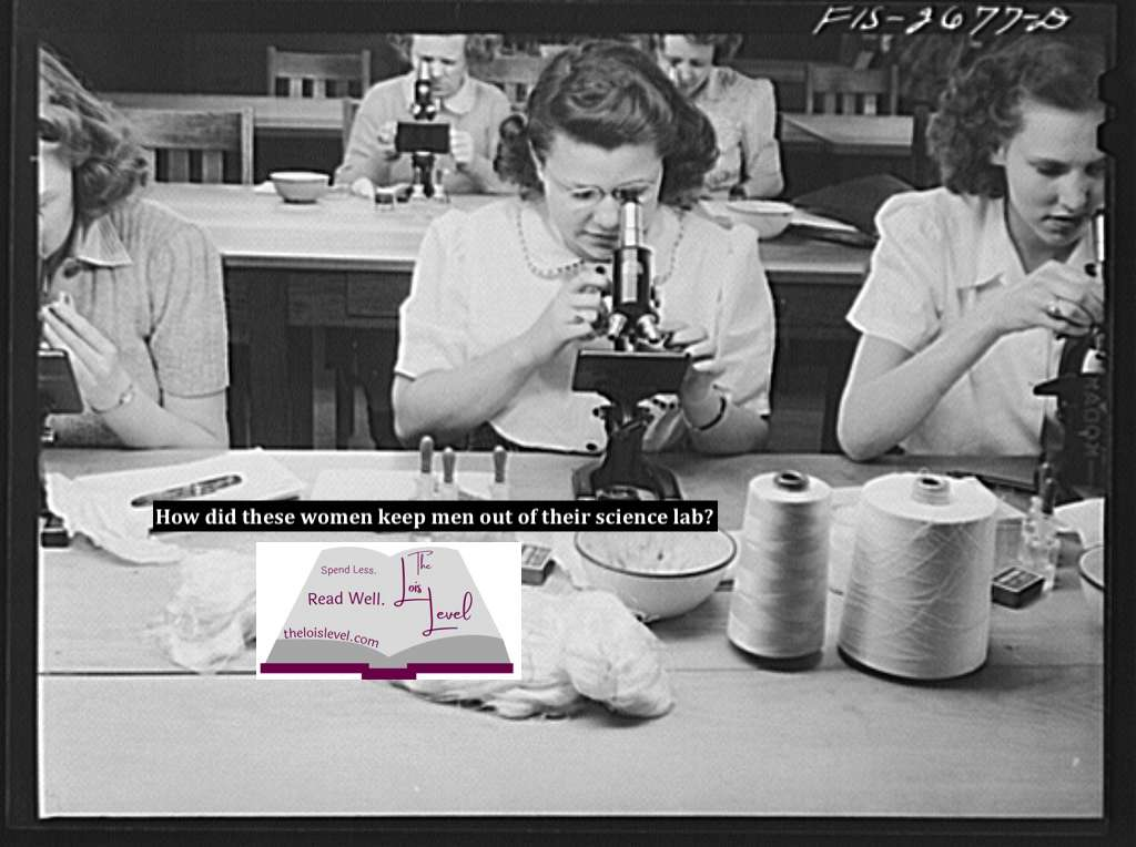 Women in a science lab studying textiles