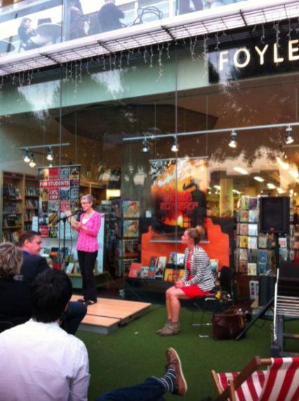 Fiona Ritchie Walker reading her winning poem, 'Northern Territory'