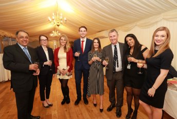 Staff from The London Magazine with Nigel Evans