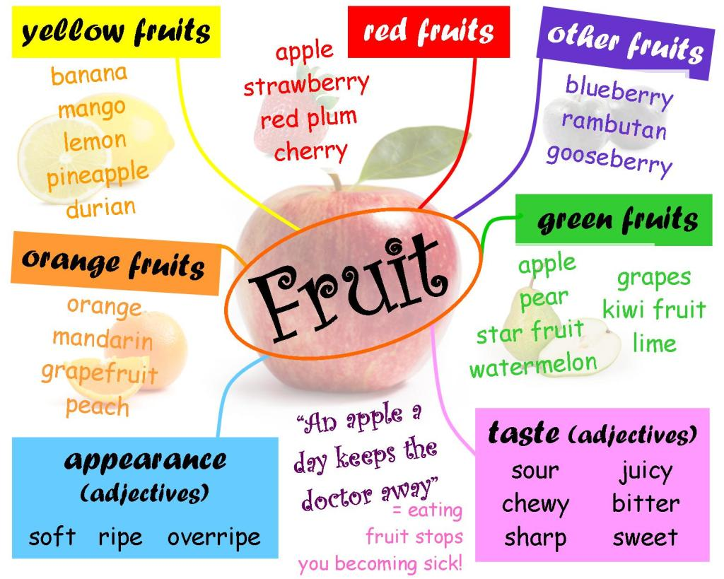mind map for fruit
