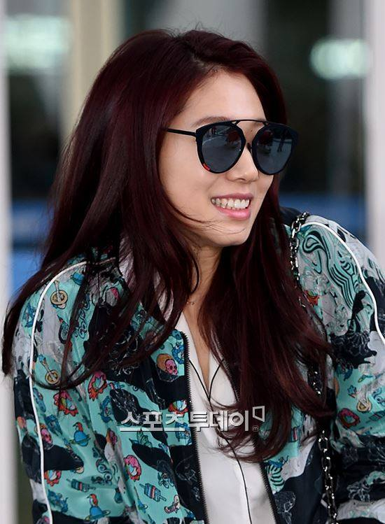 Actress Park Shin Hye Leaves For Manila