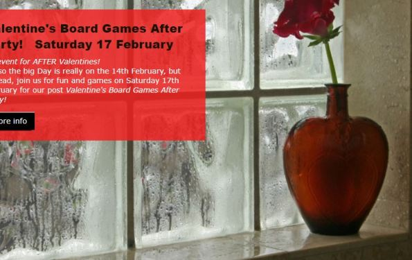 VALENTINES BOARD GAMES AFTER PARTY IN LONDON