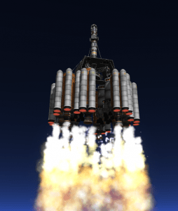 The launch vehicle produced 21,000 kN of thrust from the launch pad at the RUD Space Center.