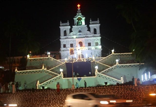 View of Church Panaji Goa Holiday trip