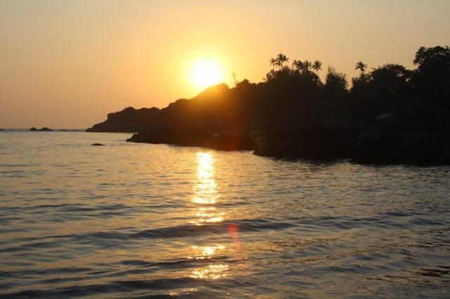 Sunset at Palolem BeachSouth Goa Holiday trip