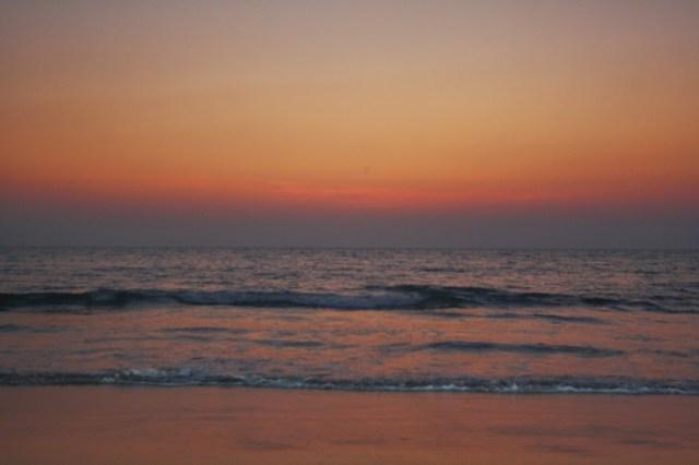 Crimson sky at Palolem beach Goa Holiday trip