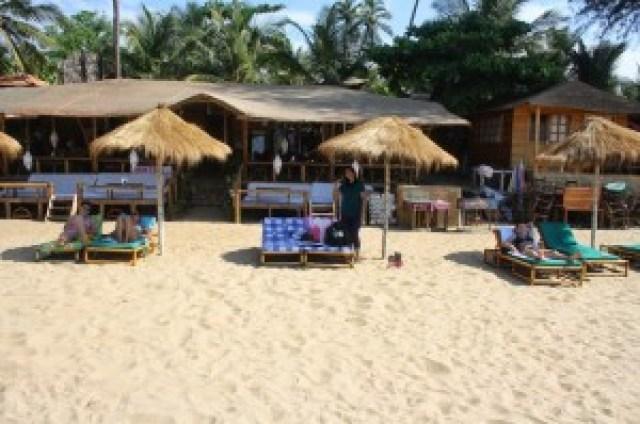 The shacks of Goa Beaches and food