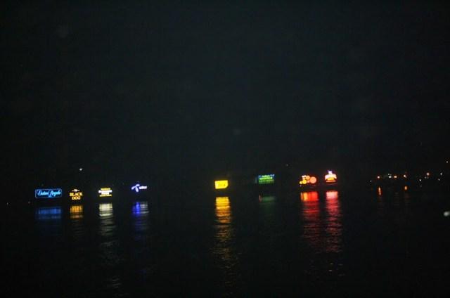 River Mandovi at night Panaji Goa during holiday trip