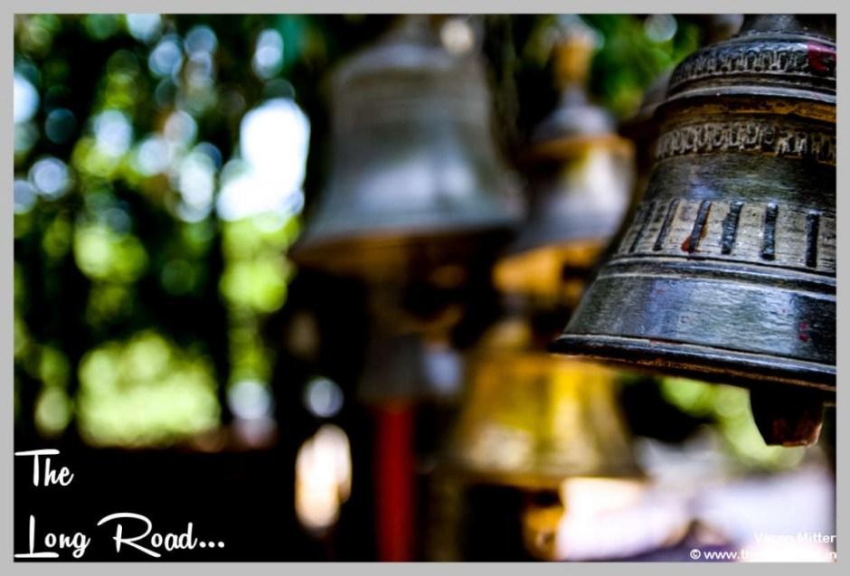 bells with carving at Kumaon uttarakhand himalaya India