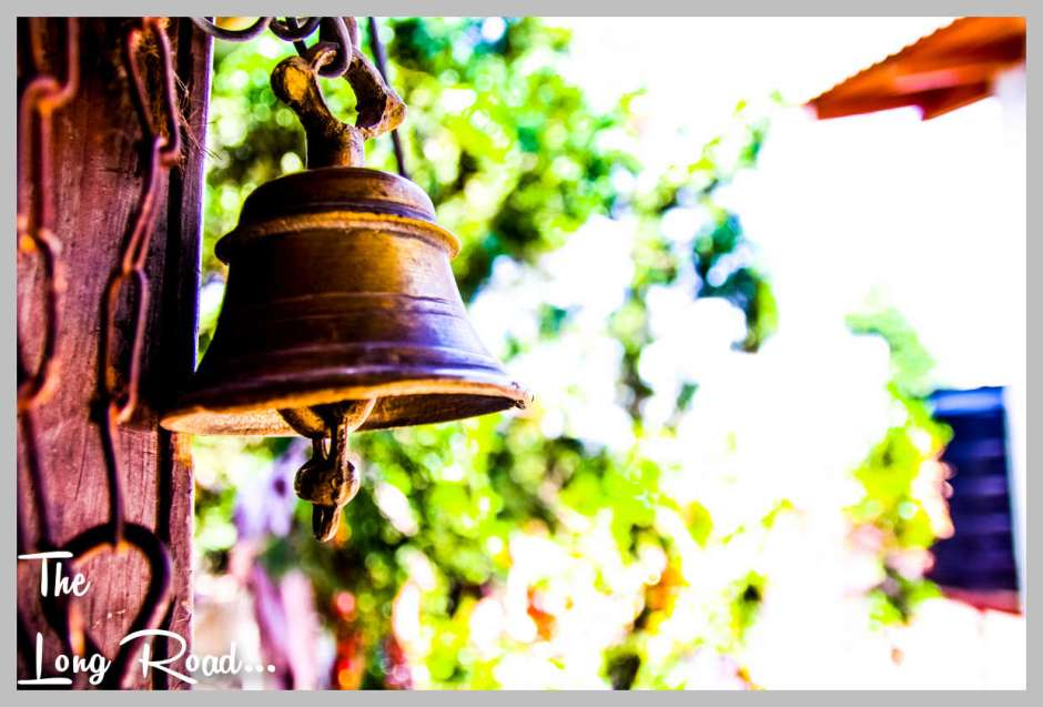 Bells hung at temples of Himalaya . Kumaon region India