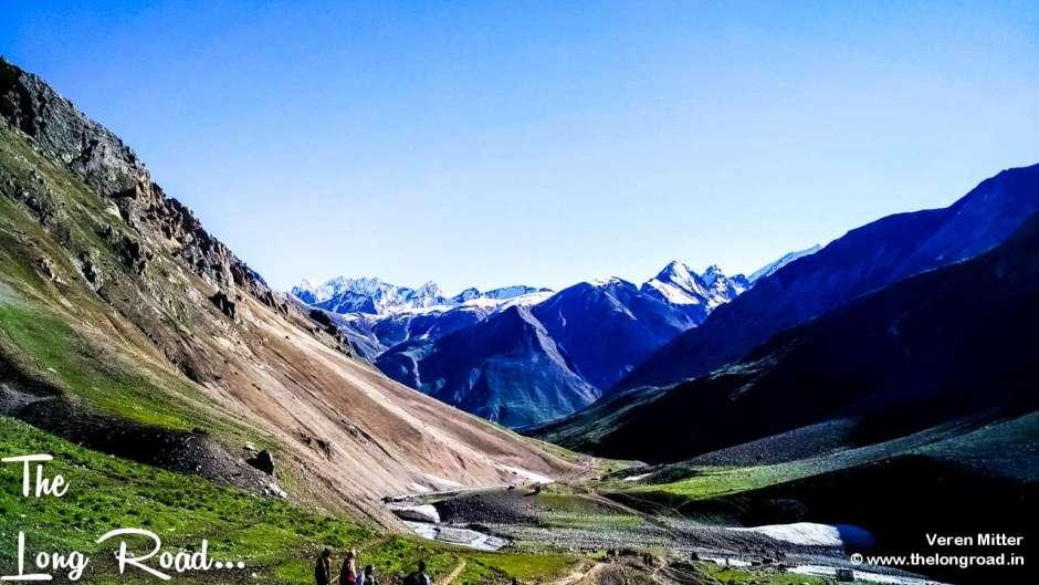 View of valley glacier mahaguna top, Amarnath Yatra