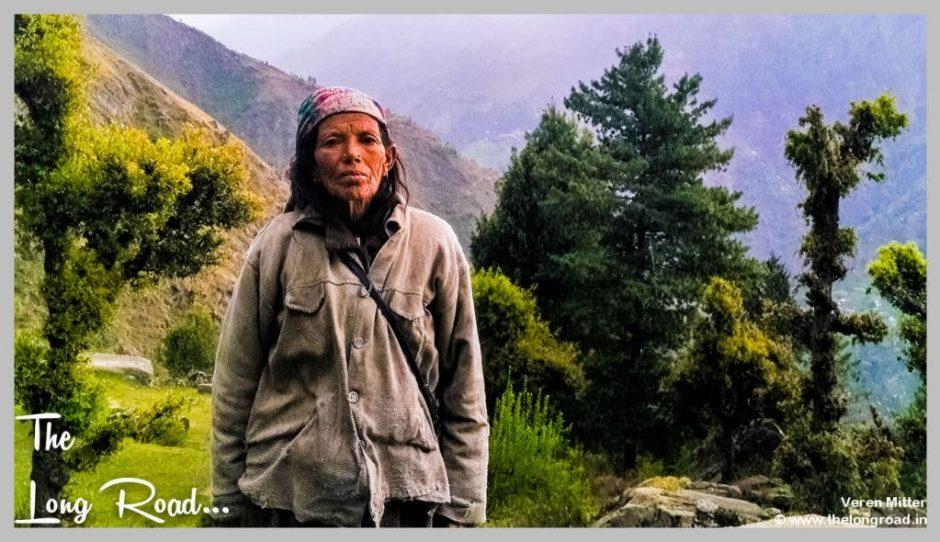 Old village women in tirthan valley, GHNP