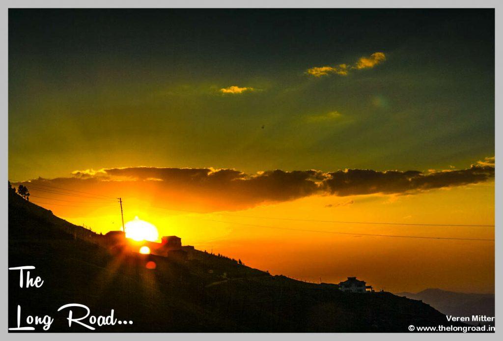 Sunset at Prashar Lake Temple