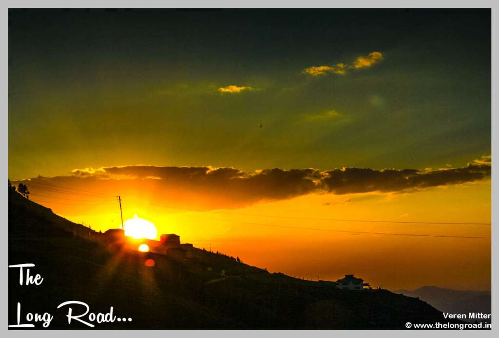 Sunset at Prashar Lake Temple