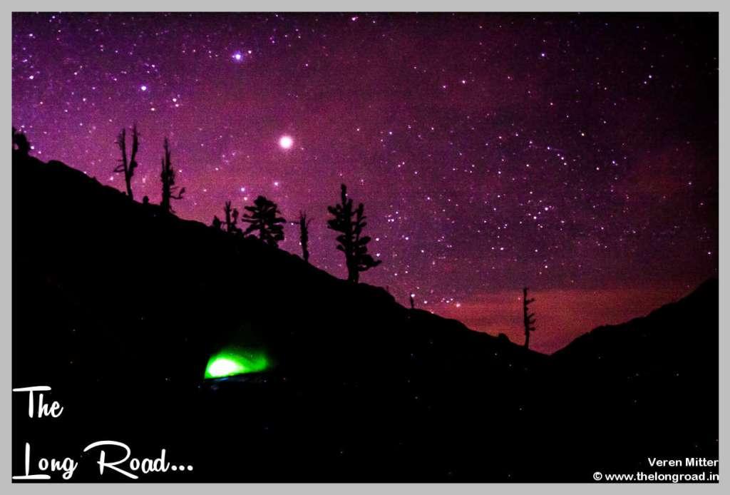 Night Sk at kareri lake
