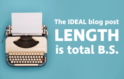 the ideal blog post length