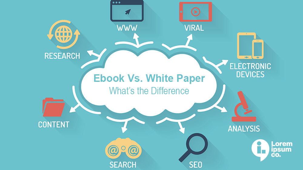 difference between white papers and ebooks