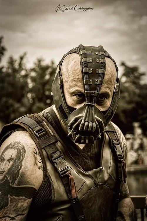 DC Comics e musica ecco il cosplay di Bane di Luca Veronesi