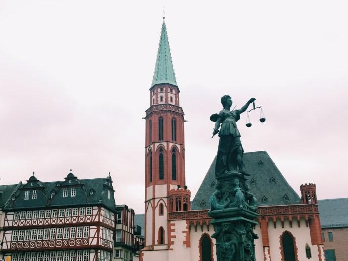 Francoforte Romerberg square Frankfurt