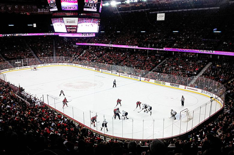 Full disclosure, this a Calgary Flames photo. They're an equally awesome Canadian NHL team though!