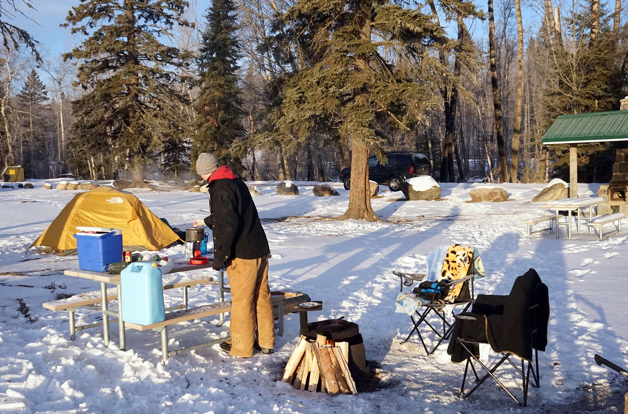 a creative winter camping meal to make an adventure in prince