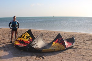 My first attempt at kite-surfing. Can officially say I am now hooked on a new sport